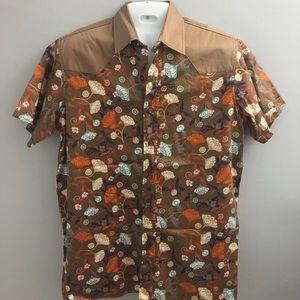 FABRIC BY BLACKBURN Men's S/S Button Down Shirt